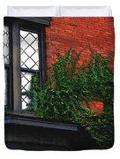 Green Ivy Garnet Brick Duvet Cover