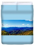 Green Knob Hdr Southern Panorama Duvet Cover