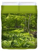 Green Landscape Of Summer Foliage Duvet Cover