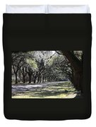 Green Lane With Live Oaks Duvet Cover