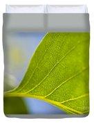Green Leaf Backlit  Duvet Cover