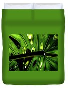 Green Leave With Holes Duvet Cover