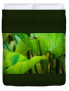 Green Leaves At Cantigny Duvet Cover