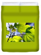 Green Leaves Duvet Cover by Carlos Caetano