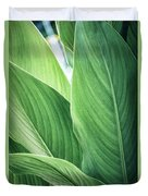 Green Leaves No. 2 Duvet Cover by Todd Blanchard