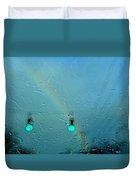 Green Light To A Rainbow Duvet Cover