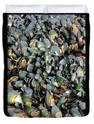 Green Lipped Muscles Duvet Cover