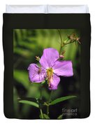 Green Lynx Spider On Meadow Beauty Duvet Cover