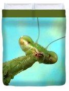 Green Martian Duvet Cover