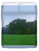 Green Meadow In Autumn Duvet Cover