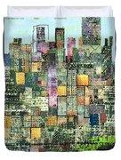 Green Metropolis  Duvet Cover