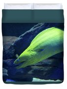 Green Moray Eel Duvet Cover