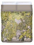 Green Moss On Rock Pattern Duvet Cover
