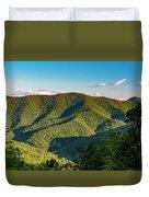 Green Mountainside Duvet Cover