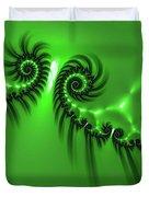 Green Mystery Duvet Cover