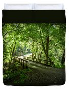 Green Nature Bridge Duvet Cover
