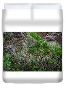 Green On Rocks Duvet Cover