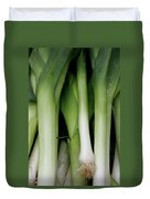 Green Onion Market Bergen Duvet Cover