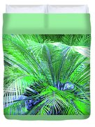 Green Palm Duvet Cover