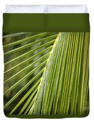Green Palm Leaf Duvet Cover