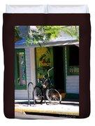 Green Parrot Bar Key West Duvet Cover by Susanne Van Hulst