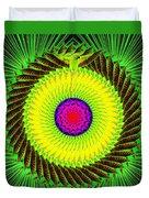 Green Parrot Mandala Duvet Cover