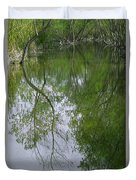Green Peace - Trees Reflection Duvet Cover