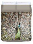 Green Peacock Duvet Cover