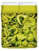 Green Peppers Duvet Cover