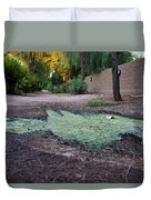Green Puddle Duvet Cover