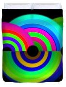 Green Rainbow Duvet Cover