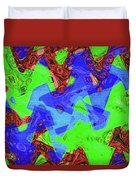 Green Red And Blue Melody Panel Abstract Duvet Cover