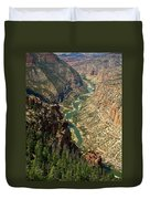 Green River Carving Canyon Duvet Cover