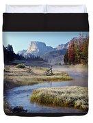 Green River, Frosty Morning Duvet Cover