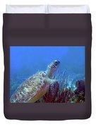 Green Sea Turtle 3 Duvet Cover
