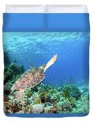 Green Sea Turtle Duvet Cover