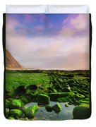 Green Soul Of The Cliff Duvet Cover