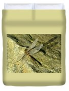 Green Spotted Dragonfly 1 Duvet Cover