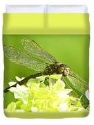 Green Spotted Dragonfly 2 Duvet Cover