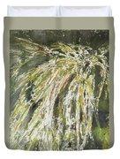 Green Reeds Duvet Cover