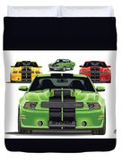 Green Stang Duvet Cover