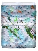 Green Strike Duvet Cover