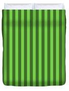 Green Striped Pattern Design Duvet Cover