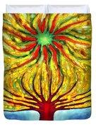 Green Sun Duvet Cover