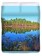 Green Swamp In December Duvet Cover