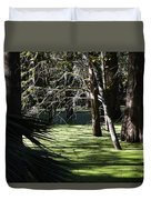 Green Swamp Near Camps Canal Duvet Cover