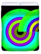 Green Targets Duvet Cover