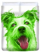 Green Terrier Mix 2989 - Wb Duvet Cover