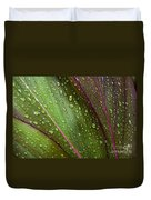Green Ti Leaves Duvet Cover