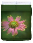 Green Tipped Coneflower Duvet Cover